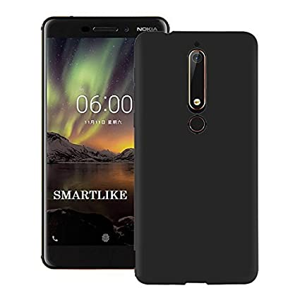 hot sale online efbd0 e1b35 SmartLike Back Cover for Nokia 6.1 / Nokia 6 (2018) - Black