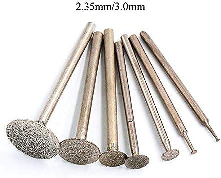 0.5-16mm Diamond Burr Grinding Head Bit 2.35//3mm Shank For Dremel Rotary Tool