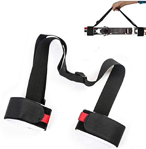 YOMINY Ski Carrier Straps, Ski Shoulder Lash Handle Straps - Adjustable Shoulder Sling Straps with Cushioned Magic Sticker Ski Accessory