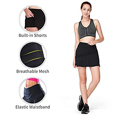 CAMELSPORTS Women Casual Active Sport Skirt Tennis Golf Skorts Pleated for Athletic Running Workout with Built-in Shorts: Clothing