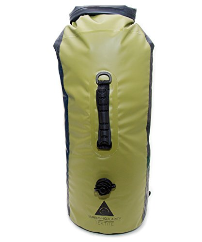 SUPERSINGULARITY Premium Dry Bag 30L Waterproof Backpack with Dual Air Valve Inflation and Compression Sack. Gear Bag for Boating, Kayaking, Canoeing, Rafting, Fishing, Hunting, Camping & Beach