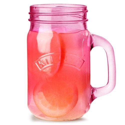 Kilner Glass Handle Jar,0.4 Liters, Pink