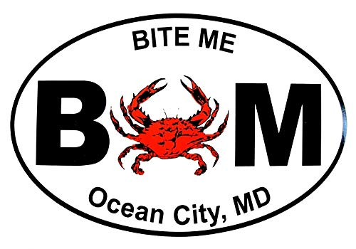 - Ocean City Bite Me with Crab Window Decal