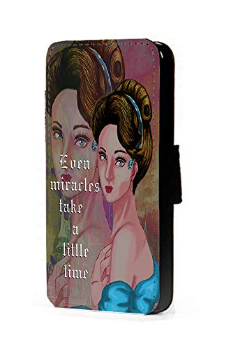 Disney Princess Inspired Phone case Modern Cinderella Fan Art Faux Leather flip Wallet Mobile Cover for LG G3 ()
