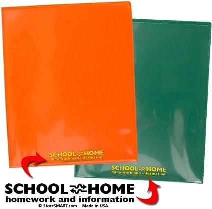 6-Pack Archival Plastic StoreSMART School//Home Folders SH900PCP6ENG Durable Letter-Size Twin Pocket 6 Colors!