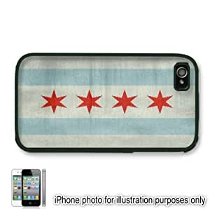 Chicago Distressed City State Flag Apple iPhone 6 plus Case Cover Skin Black