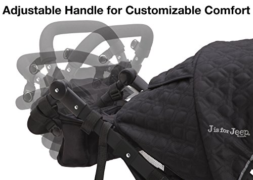 J is for Jeep Brand Cross Country Sport Plus Jogger, Charcoal Galaxy
