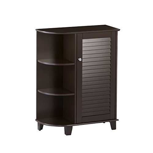 RiverRidge Home Ellsworth Floor Cabinet with Side Shelves, (Corner Bath Cabinet)