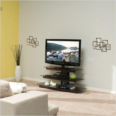 0-Cn1 Basic Foundations 52-Inch, 3-Shelf A/V Stand (Chestnut) (Sanus Glass Tv Stand)