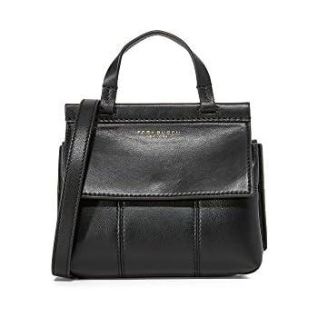 57b1585e56 Tory Burch Women's Block T Mini Top Handle Bag, Black, One Size ...