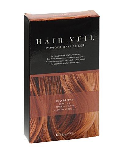 FHI Brands Hair Veil Powder Hair Filler, Red Brown
