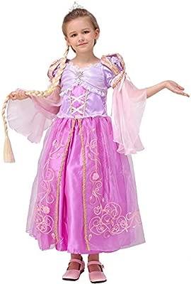 QYF Las niñas de la Princesa Rapunzel Vestir Ropa de los ...