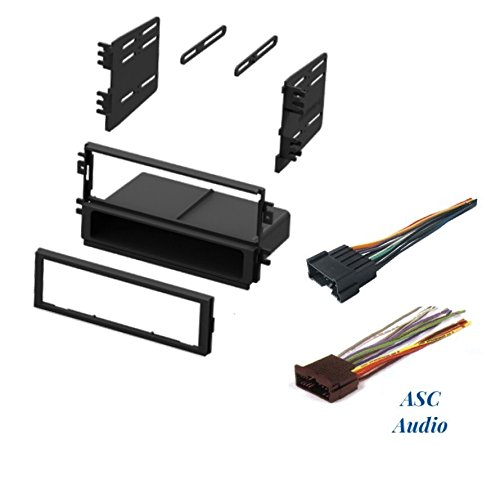 ASC Audio Car Stereo Radio Install Dash Kit and Wire Harness for Installing an Aftermarket Single Din Radio for Select Kia Vehicles - Please read compatible vehicles and restrictions below