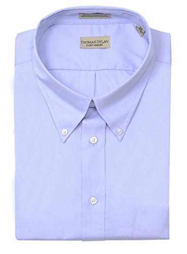 Button Down No Iron Pinpoint - Thomas Dylan Big Mens Non-Iron Pinpoint Button Down Dress Shirt - Blue (19