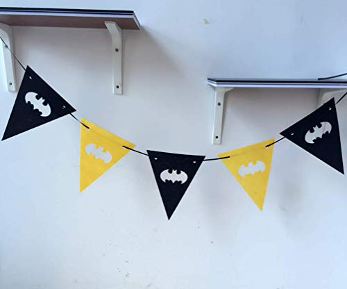 Astra Gourmet Black and Yellow Batman Party Banner, Batman Party Supplies, Batman Themed Party Decorations Kit, Birthday Party Supplies ()