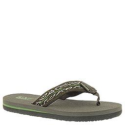 Teva Boys\' Mush II Sandal, Wood Stripes Black Olive, 6 M US Big Kid