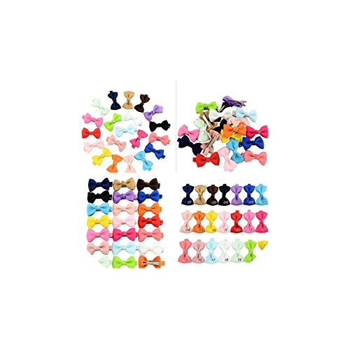(Casual-Life 20 Pcs Pet Grooming Accessories Products Dog Bow Hair Little Flower Bows for Small Dogs Charms Gift,as pic)