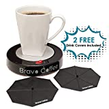 Bravo Line Coffee Mug Warmer with Automatic Shutoff - Best Electric Beverage Warmer for Desk - Extra Large - 3.87