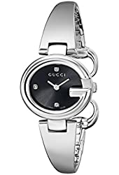 Gucci Women's YA134505 Guccissima Diamond-Accented Stainless Steel Bangle Watch