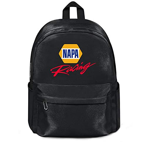 Womens Girl Boys Bag Purse Fashion Nylon Packable Travel Daypack Backpack NAPA-Racing-Logo- Bag Purse Black