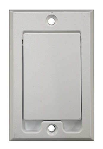 Central Vacuum Square Door Inlet Wall Plate for Nutone Beam VacuFlow - White (2-Pack) (Inlet Vacuum Central)