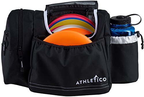 Athletico Disc Golf Bag - Tote Bag For Frisbee Golf - Holds 10-14 Discs, Water Bottle, and Accessories