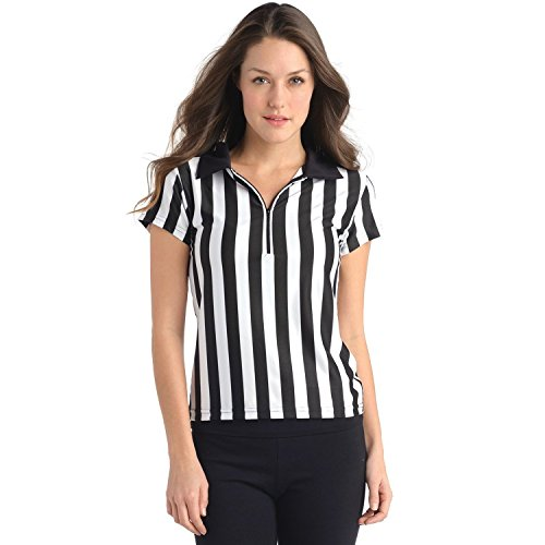 Small - In Your Face Apparel Women's Collared Referee Sports Bar Uniform Shirt Referee Apparel