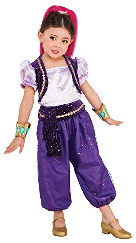 UHC Girl's Shimmer & Shine Theme Outfit Child Fancy Dress Halloween Costume, Toddler (3-4T)