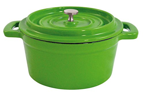 Paderno World Cuisine Mini Green Enamel Dutch Oven, 9-Ounce