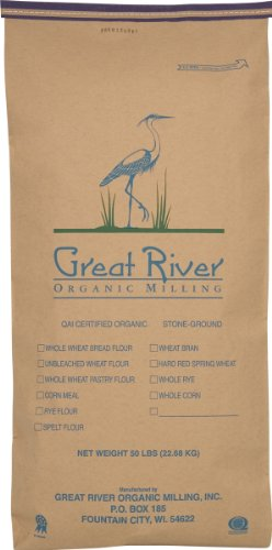 Great River Organic Milling Organic Whole Grains Brown Flax Seed, 50-Pounds by Great River Organic Milling