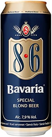 Baviera 8,6 50cl Can (Paquete de 24 x 500 ml)