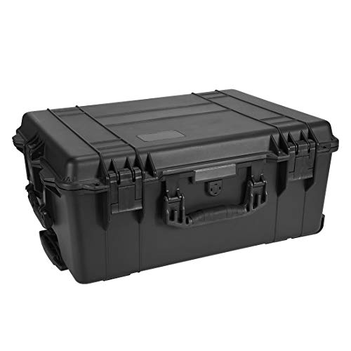 uxcell Watertight Carry On Hard Case with Foam Insert IP67 Protective Box 24.72