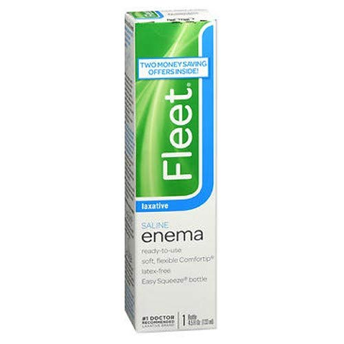 Fleet Enema 4.5 Oz Regular (Pack of - Enema Laxative Saline