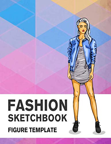 Figure Drawing Template - Fashion Sketchbook Figure Template: 430 Large Female Figure Template for Easily Sketching Your Fashion Design Styles and Building Your Portfolio