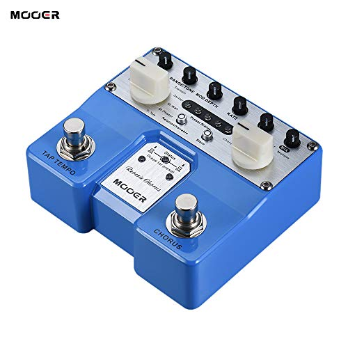 (Kalaok Reverie Chorus Guitar Effect Pedal 5 Chorus Modes 8 Enhancing Effects Tap Tempo Function with Dual Footswitches)