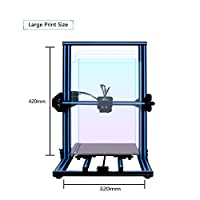 GEEETECH A30 3D Printer with Large Print Size: 320×320×420mm and Power Failure Recovery, 3.2″ Full-Color Touch Screen, Good Adhesion of Platform, SMARTTO Open Source firmware, Half Assembled DIY Kit. from Geeetech