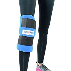 Cool Relief Soft Gel Knee Ice Wrap, Cold Therapy Compression Ice Pack, Universal Size