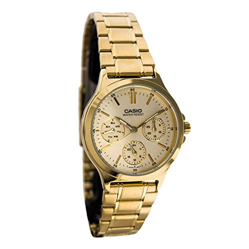 Gold Multifunction Dial (Casio LTP-V300G-9A Women's Standard Gold Tone Stainless Steel Multifunction Gold Dial Watch)