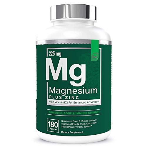 Magnesium + Zinc with Vitamin D3 by Essential Elements – Immune & Bone Support | Magnesium Glycinate, Citrate, Malate…