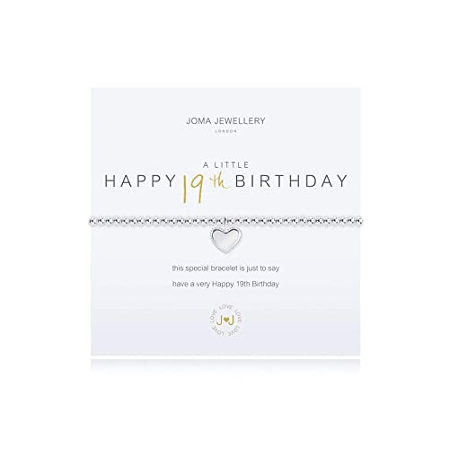 Joma Jewellery Bracelet Silver Plated A Little Happy 19th Birthday 2018