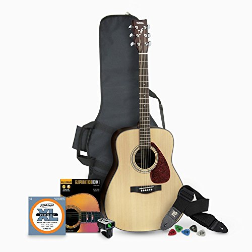 Yamaha F325D Dreadnought Acoustic Guitar Bundle with Gig Bag and Accessories Bundle