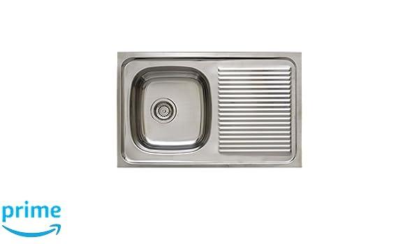 Timblau Fregadero de Cocina con Seno y Escurridor b024fe650cd1