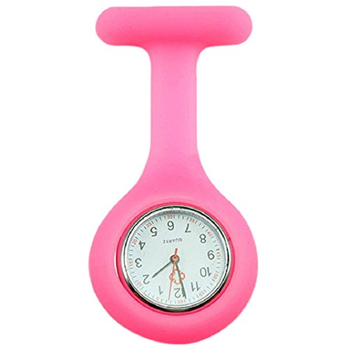 Baost Lovely Silicone Nurse Doctor Medical Watch Brooch Tunic Fob Watch - Pink from Baost