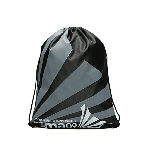 WEHOPS Cycling Backpack Unisex Drawstring Bags for Adults and Kids Sports, Swim, Gym Prints Black