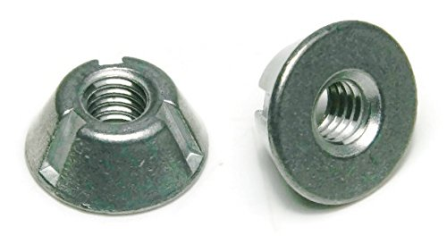 Tri-Groove Tamper Proof Security Nuts Zamak 5 Zinc 1/4''-20 - QTY 100 by RAW PRODUCTS CORP