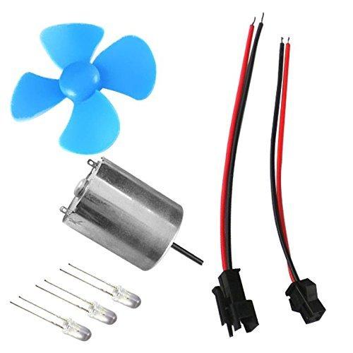 SGerste 60/mm DIY Micro Wind Generator Windkraftanlagen Motor Modell Kits Wind Power Lehrwerkzeug