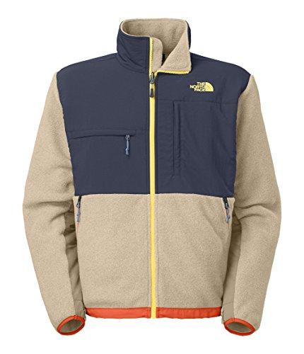 The North Face Mens Denali Jacket(X-Large,Recycled Dune Beige Heather/Cosmic (Blue Denali Fleece)
