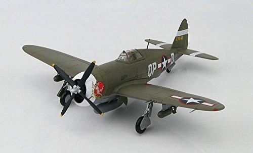Fighter Thunderbolt P-47d (Hobby Master HA8450B Flown by Ace Col. Steve Pisanos: WWII Die Cast Model Fighter P-47D Razorback a Republic P-47 Thunderbolt in 1/48 Die Cast; by Hobby Master by Hobbymaster)