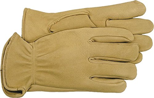 - Boss Gloves 4085S Unlined Premium Grain Deerskin Driver Gloves, Small, White