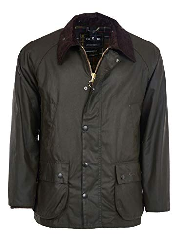 Barbour Men's Classic Bedale Wax Cotton Jacket, Olive, 46 from Barbour
